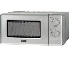 Zanussi ZFM15100SA Encimera 14L 500W Plata - Microondas (Encimera, 14 L, 500 W, Giratorio, Plata, 25,5 cm)