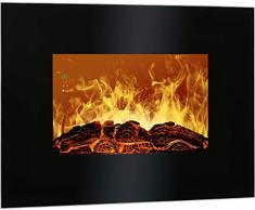Bomann EK 6020 CB Chimenea Eléctrica Decorativa De Pared, 900 W, Negro