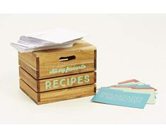 Jamie Oliver 553476 - Caja de recetas, madera