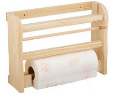Caper Articoli Casalinghi Portarrollos de mesa de madera