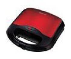 Sencor SSM 4221RD - Sandwichera (700 W, gofrera, tostadora y grill de mesa), color negro y rojo