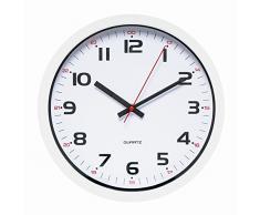 Unilux 400014622 Moderno Reloj de pared Aria | 1 pieza | Blanco | 30,5 cm | con segundero | doble hora Marcar