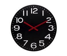 Unilux 400031697 de radio reloj de pared Mega | Reloj |1 stück| Negro | 60 cm | indicador rojo