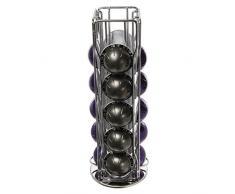 20 piezas 4 filas NESPRESSO VERTUO GRAN LUNGO ARONDIO soporte para cápsulas de café con base giratoria de 360°
