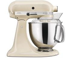 KitchenAid Artisan - Robot de cocina (4,8 L, Crema de color, palanca, 220 RPM, 1,45 m, Acero inoxidable)
