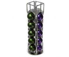 20 piezas 4 filas NESPRESSO VERTUO taza ELVAZIO soporte para cápsulas de café con base giratoria de 360°