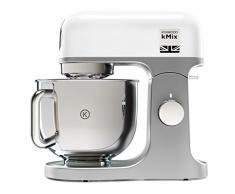Kenwood kMix KMX750WH - Robot de Cocina, 1000 W, Bol 5 L con Asa, Incluye: Gancho Amasar, Batidora Varillas, Batidora K, Color Blanco
