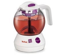 Tefal Tea-By-The - Tetera eléctrica, 600 W, vidrio, blanco/morado