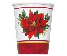 Decoración de Navidad, diseño de Flor de Pascua, papel, Multicolor, 9 oz