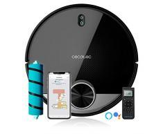 Cecotec Robot Aspirador Conga 3790. Tecnología láser, Room Plan, 2300 Pa, App, Cepillo Jalisco, Doble Tanque, Cepillo Especial Mascotas, Mando a Distancia