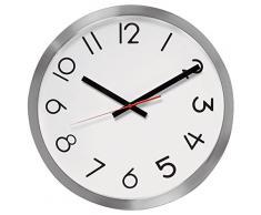 Unilux 100340859 de radio reloj de pared de radio maxi| uhr|1 stück| de metal Gris | 40 cm | con segundero