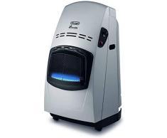 DeLonghi - calentador de gas, 4200 W Con termostato negro/plateado (sin regulador de presión)
