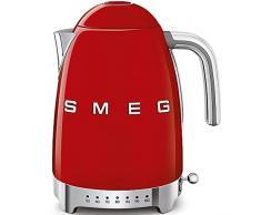 SMEG Calentador de Agua electrico, hervidor KLF04RDEU, 2400 W, 1.7 litros, De plástico, Acero Inoxidable, rojo