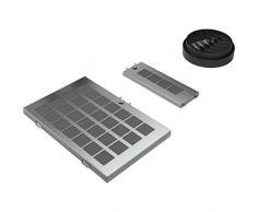 Bosch DWZ0AK0R0 Filtro accesorio para campana de estufa - Accesorio para chimenea (Filtro, Negro, Plata, Carbono, 2,5 kg)