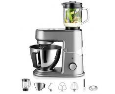 WMF Kitchenminis Robot One for All, 430 W, formato compacto, bol de acero inoxidable, batidora de vaso, pantalla LCD, 8 velocidades, 7 accesorios incluidos