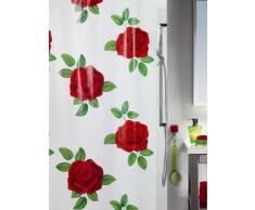 Spirella - Cortina de Baño, Lovely Rojo 180 x 200