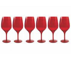 Villa dEste Set Copa Para Vino Tinto 6 Uds. Rojo
