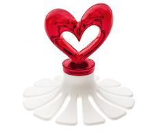 Koziol 3646535 - Cortador de tartas, plástico, Transparent Rot mit Weiß, 79 x 79 x 70 cm