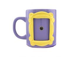 Paladone PP6548FR   Taza de cerámica con forma de marco de fotos mirilla Monica 330 ml personalizado   Inserta tu propia foto 6,5 cm por 4,5 cm   Amigos TV Merchandise, Morado y amarillo
