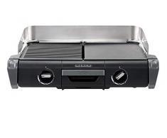Tefal tg804d14 barbacoa eléctrica BBQ Family Flavor 2 en 1 de mesa grill plancha termostato ajustable 2 superficies de cocción 2400 W