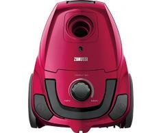 Zanussi 900258278 Aspiradora, 600 W, 1.24 litros, 80 Decibelios, Satin Pink Metallic