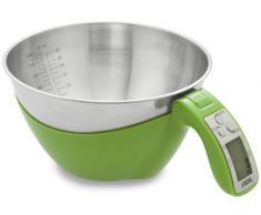 ADE Báscula digital de cocina KE1285 Sarah. cuenco extraible resistente con capacidad de 1,5L. Pese y mezcle hasta 5kg. Función de tara. Incluye baterías. Color Verde
