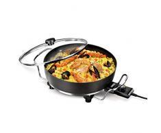 Princess 162367 Multi Wonder Chef Pro, Cazuela multiusos eléctrica versátil, 35 cm de diámetro, 7 cm de profundidad, termostato regulable, 1800 W