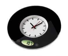 Hama Pauline - Báscula de cocina con reloj, color negro