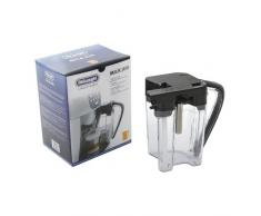 DeLonghi 55-DL-09 - Jarra de leche para cafetera, vidrio, negro/plata