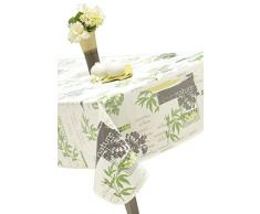 Mantel de hule rectangular Nature Bio, 140 x 250 cm