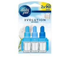 Ambi Pur 3volution Puro & Fresco Ambientador Eléctrico Con Dos Recambios - Pack de 2 x 21 ml - Total: 42 ml