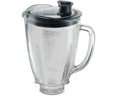 Oster 004936-050-000 - Jarra de vidrio redonda 6 tazas (1.5 l) con tapa redonda, color negro y tapón de llenado
