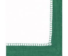 Caspari - Lote de 20 servilletas de cóctel de lino, tejido de esmerald, 12,5 x 12,5 x 0,02 cm