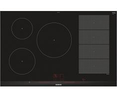 Siemens EX875LVC1E hobs Negro, Acero inoxidable Integrado Con - Placa (Negro, Acero inoxidable, Integrado, Con placa de inducción, Vidrio y cerámica, 2200 W, 14,5 cm)