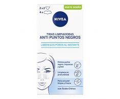 NIVEA Tiras Limpiadoras Anti Puntos Negros (8 unidades), limpiador de poros para eliminar puntos negros e impurezas de forma rápida y cómoda, tiras de limpieza facial