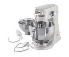 AEG KM4100 Robot de Cocina con Bol Batidora, Amasadora, Apta para Lavavajillas, Dos Boles ,10 Velocidades, Iluminación LED, Múltiples Varillas, 1000 W, 2.9L y 4.8L,Blanco