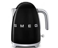 SMEG Calentador de Agua electrico, hervidor KLF03BLEU, 2400 W, 1.7 litros, Acero Inoxidable, Negro