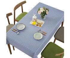 kabinga Polvo06 Prueba de Polvo Cuadrado Elegante Mantel Impermeable Decorado para la Cocina,Azul, Cotton, blue