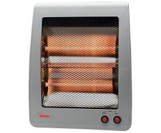 Bimar S801.EU - Calefactor (Calentador infrarrojo, Piso, Gris, De plástico, Acero inoxidable, Botones, 800 W)