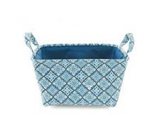 Galileo Casa 2423406 MATTONELLA cesta, rectangular, Blanda, avellanada, 35 x 25 x 20 cm, azul