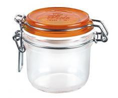 Tarro hermético con tapa naranja, 0,2 litros