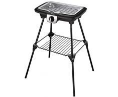 Tefal barbacoa eléctrica multifunción easy Grill 2 en 1 de horno BBQ Parrilla y plancha (uso interior y exterior 2100 W Barbacoa con soporte Negro