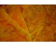 Tela de piel sintética con diseño de oso de peluche, color dorado