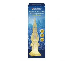 The Christmas Workshop El Taller de Navidad Funciona con Pilas, LED con Purpurina de Agua, decoración de Iglesia acrílica, Transparente