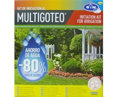 S&M 544286 Kit de Iniciación al Riego por Goteo para terrazas, huertos y macetas,Negro