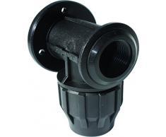 S&M Racor - Codo grifo, 32 mm x 1, color negro