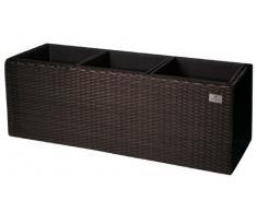 Gartenfreude 4000-1063-024 - Jardinera (material sintético, 76 x 26 x 29.5 cm), color negro