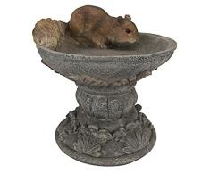 Design Toscano by Blagdon QM231341 - Figura Decorativa (Resina), diseño de Ardilla sobre Pedestal