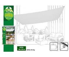 Aktive Garden 53912 - Toldo Vela Rectangular, Blanco 300 x 400 cm