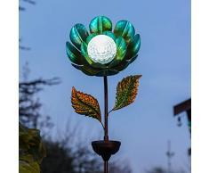 Festive Lights - Estaca de caleidoscopio giratoria, Funciona con energía Solar, para Exteriores, Impermeable, iluminación de jardín (Flor), Color Azul